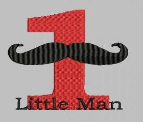 1 Little Man Machine Embroidery pattern