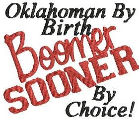 Boomer Sooner By Choice Machine Embroidery Pattern