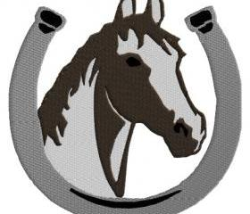 Horse and Horseshoe Machine Embroidery pattern