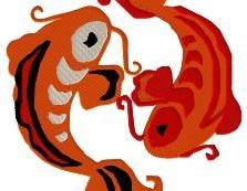 Koi Machine Embroidery Pattern