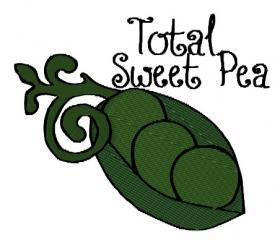 Total Sweet Pea Machine Embroidery Pattern