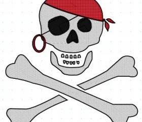 Pirate Machine Embroidery pattern