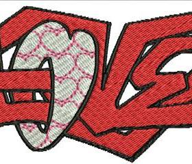 Love Machine Embroidery Pattern