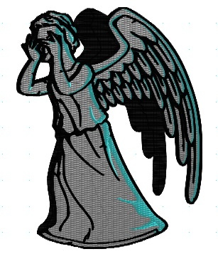 Weeping Angel Machine Embroidery Pattern